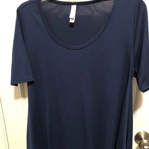 Lularoe navy Perfect Top